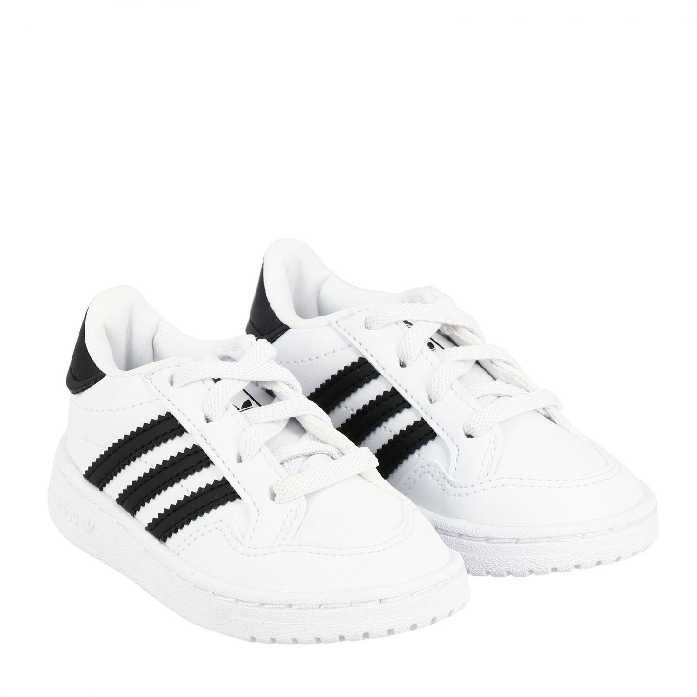 Обувь Adidas Originals: Кроссовка Tim court из кожи Детское Adidas Originals белый 2