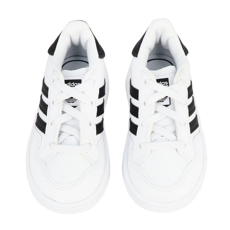 Обувь Adidas Originals: Кроссовка Tim court из кожи Детское Adidas Originals белый 3