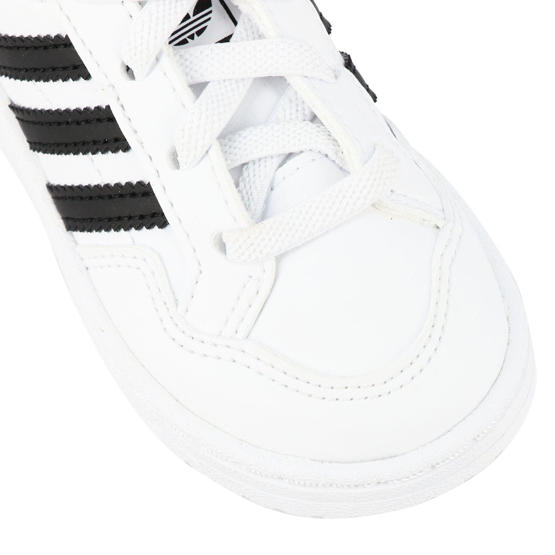 Обувь Adidas Originals: Кроссовка Tim court из кожи Детское Adidas Originals белый 4