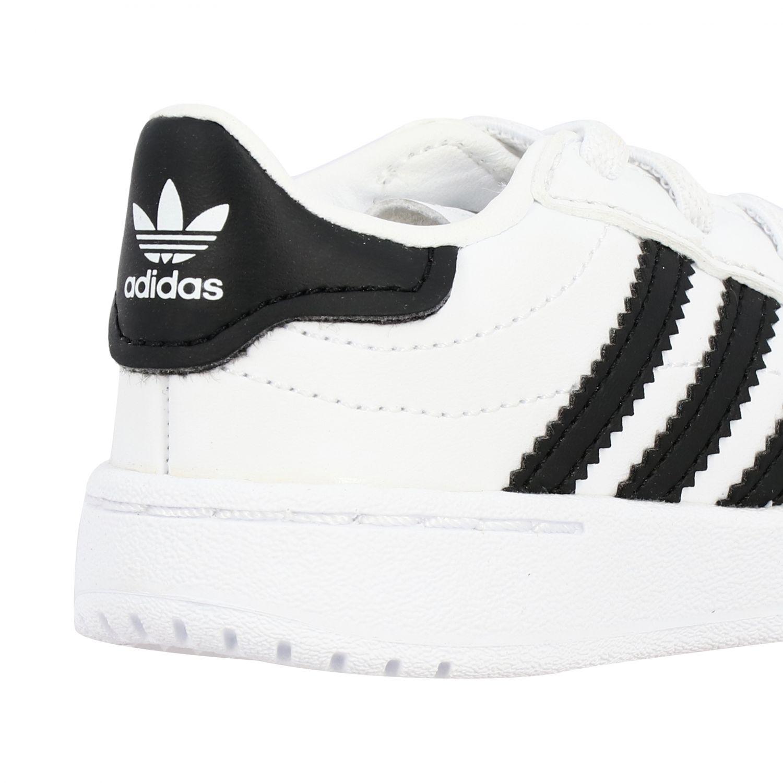 Обувь Adidas Originals: Кроссовка Tim court из кожи Детское Adidas Originals белый 5