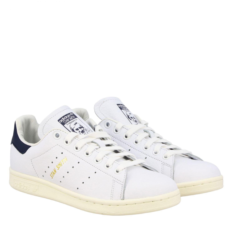 Спортивная обувь Adidas Originals: Кроссовки Stan smith из кожи Женское Adidas Originals белый 2