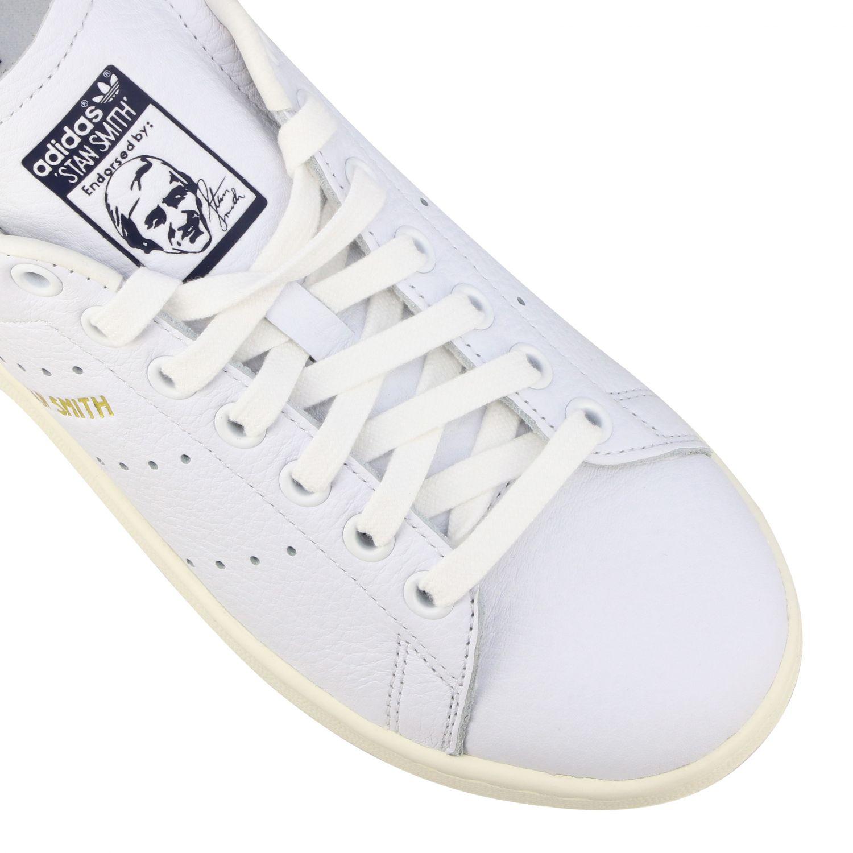 Спортивная обувь Adidas Originals: Кроссовки Stan smith из кожи Женское Adidas Originals белый 4
