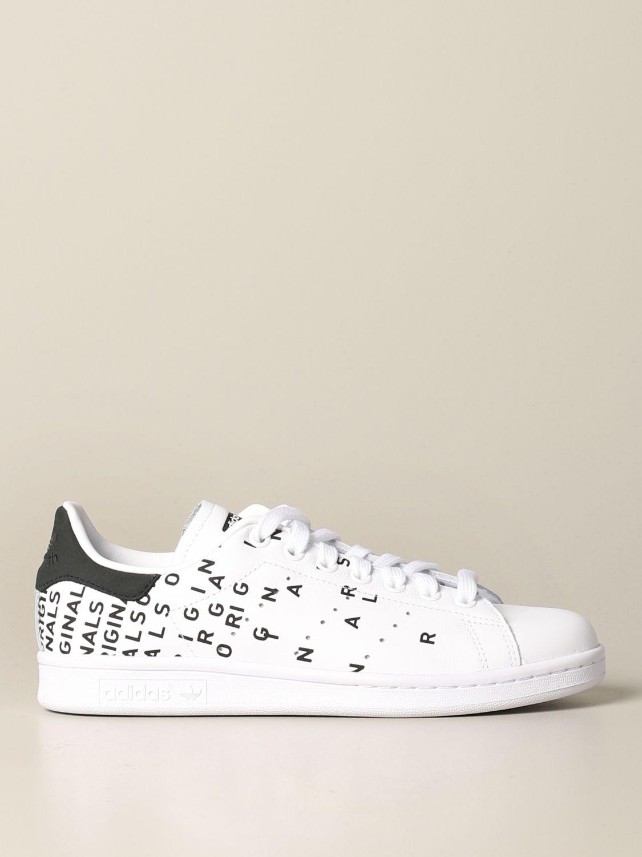 Sneakers Adidas Originals: Sneakers Stan smith Adidas Originals in pelle con stampe bianco 1