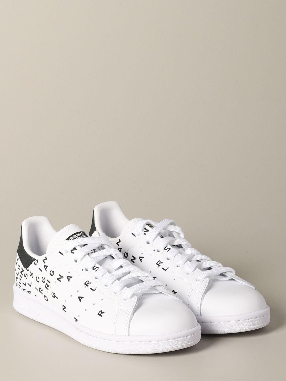 Sneakers Adidas Originals: Sneakers Stan smith Adidas Originals in pelle con stampe bianco 2