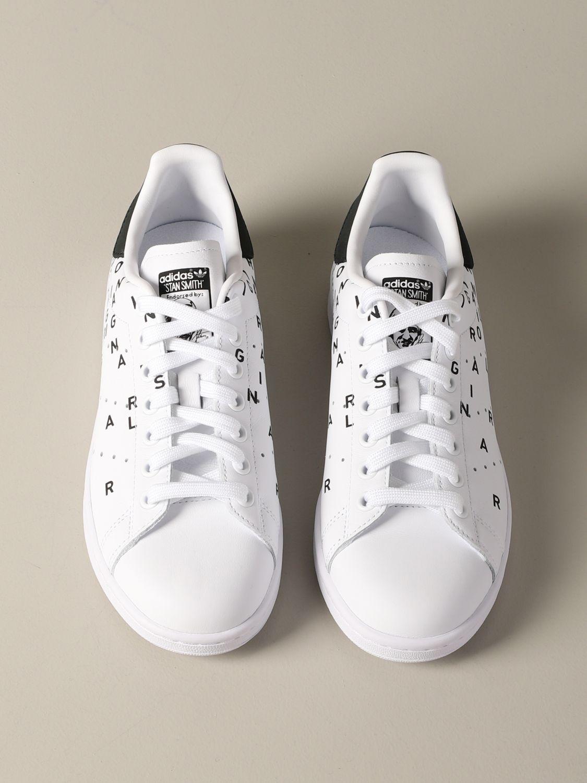 Sneakers Adidas Originals: Sneakers Stan smith Adidas Originals in pelle con stampe bianco 3