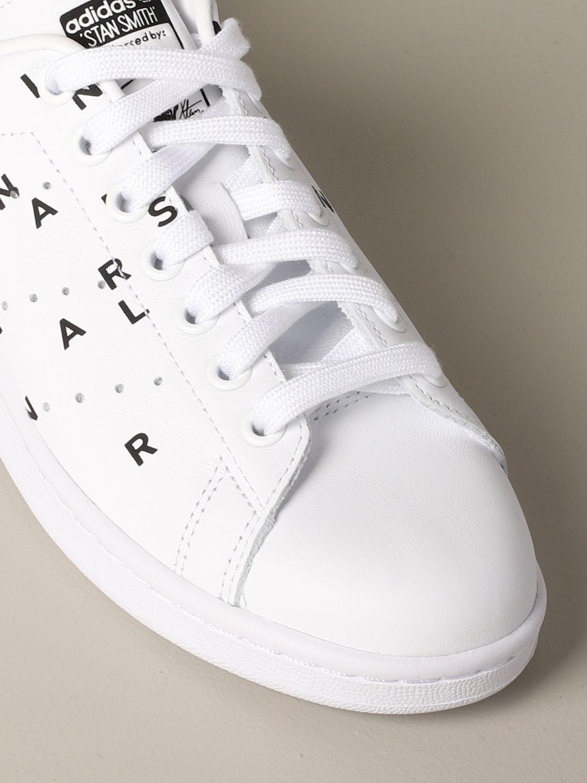 Sneakers Adidas Originals: Sneakers Stan smith Adidas Originals in pelle con stampe bianco 4