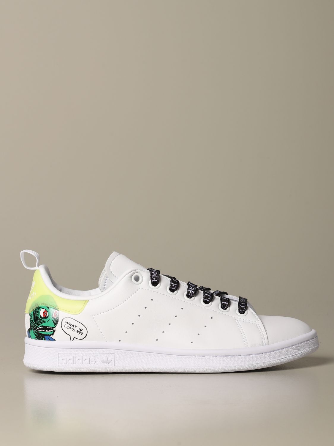 Sneakers Adidas Originals: Sneakers Stan Smith Fiorucci con stampa monster bianco 1