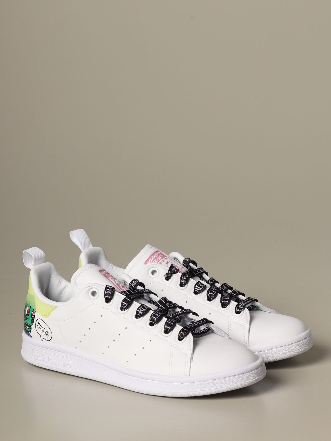 Sneakers Adidas Originals: Sneakers Stan Smith Fiorucci con stampa monster bianco 2
