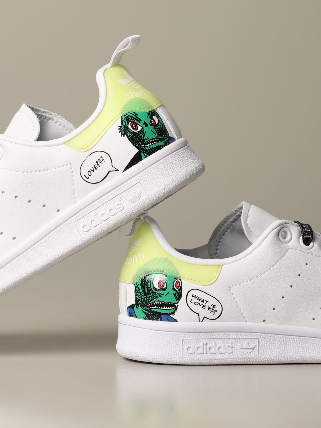 Sneakers Adidas Originals: Sneakers Stan Smith Fiorucci con stampa monster bianco 3