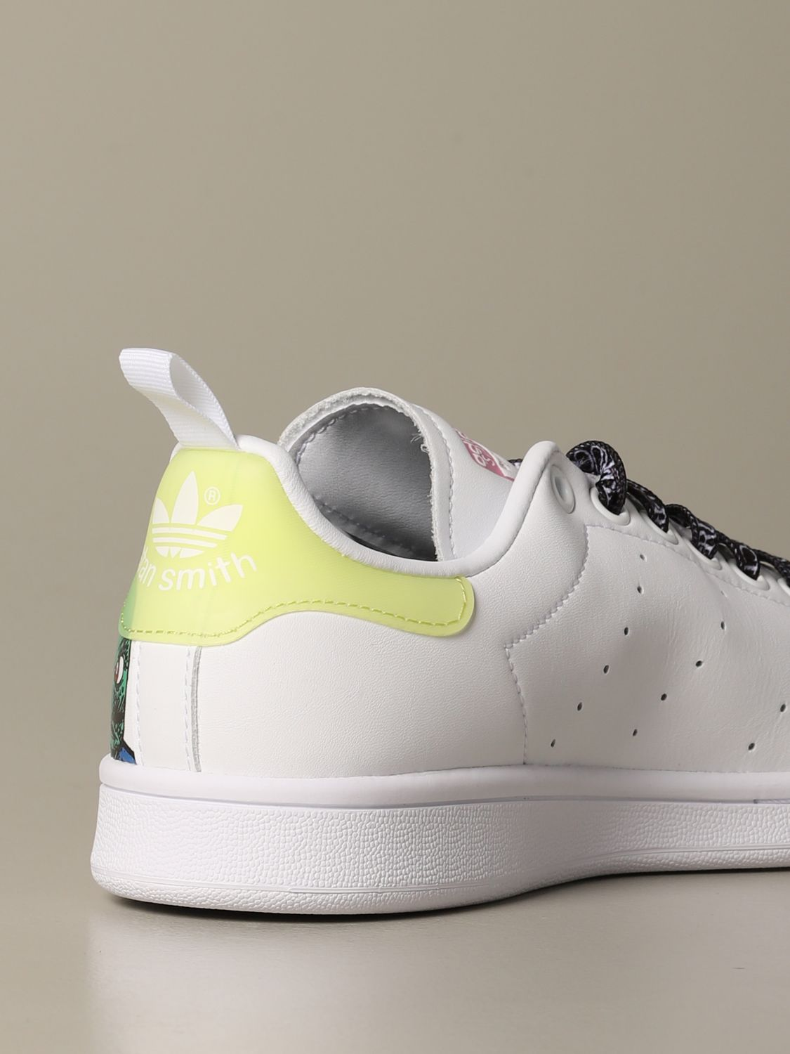 Sneakers Adidas Originals: Sneakers Stan Smith Fiorucci con stampa monster bianco 4