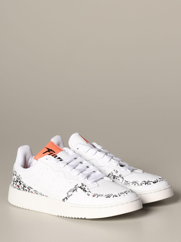 Baskets Adidas Originals: Chaussures femme Adidas Originals blanc 2