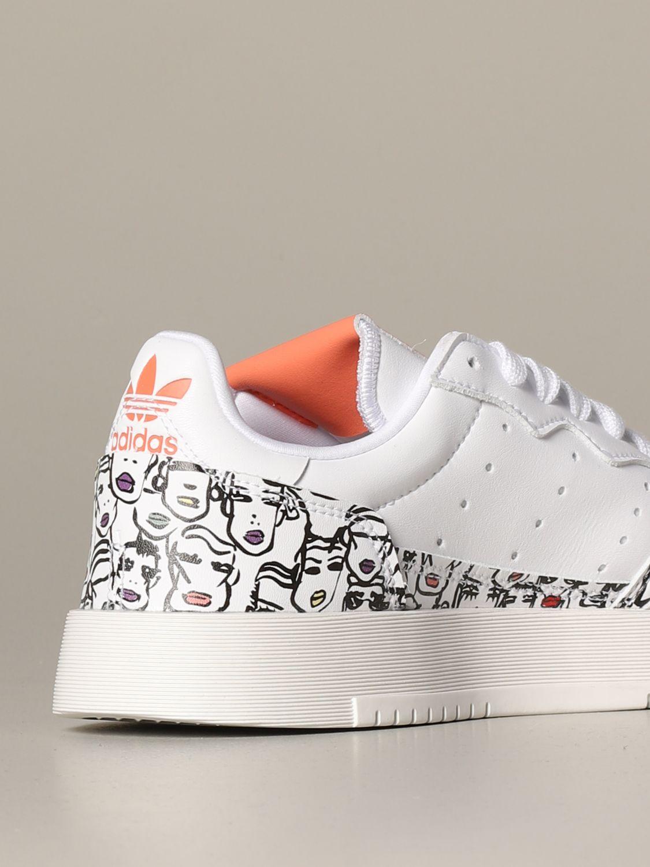 Baskets Adidas Originals: Chaussures femme Adidas Originals blanc 3