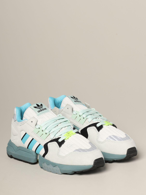 运动鞋 Adidas Originals: Adidas Originals Zx torsion 网眼丝绒运动鞋 灰色 2