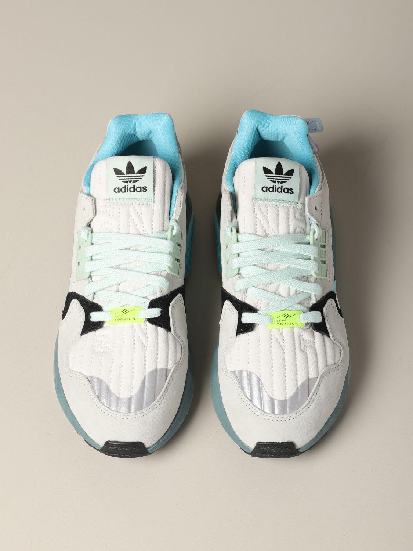 运动鞋 Adidas Originals: Adidas Originals Zx torsion 网眼丝绒运动鞋 灰色 3