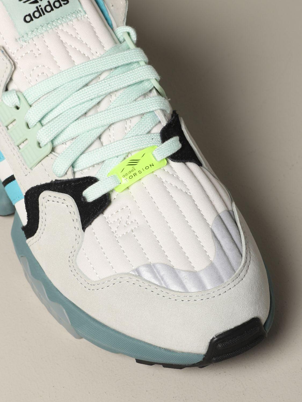 运动鞋 Adidas Originals: Adidas Originals Zx torsion 网眼丝绒运动鞋 灰色 4
