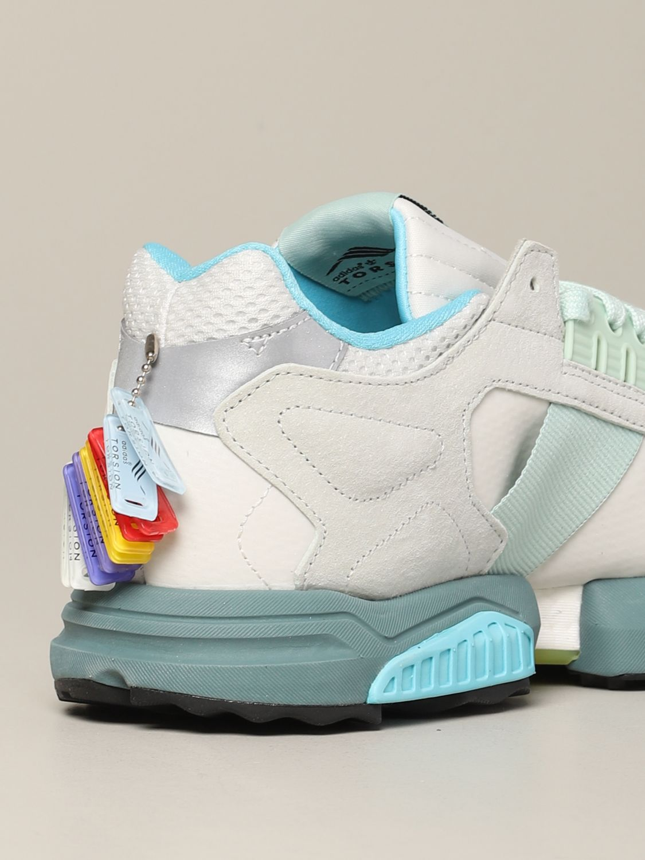 运动鞋 Adidas Originals: Adidas Originals Zx torsion 网眼丝绒运动鞋 灰色 5