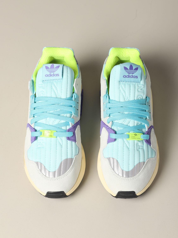 Sneakers Adidas Originals: Adidas Originals Zx torsion sneakers in mesh and suede water 3