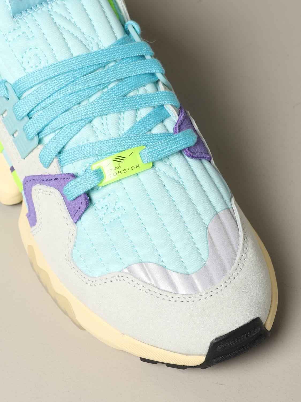 Sneakers Adidas Originals: Adidas Originals Zx torsion sneakers in mesh and suede water 4