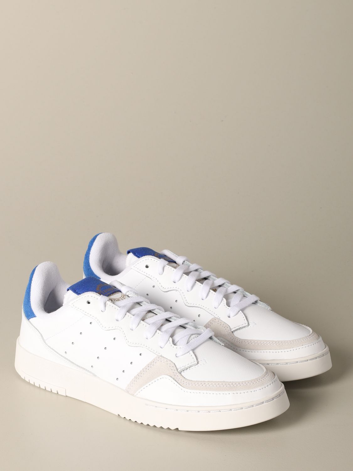 Sneakers Adidas Originals: Sneakers Supercourt Adidas Originals in pelle e camoscio bianco 2