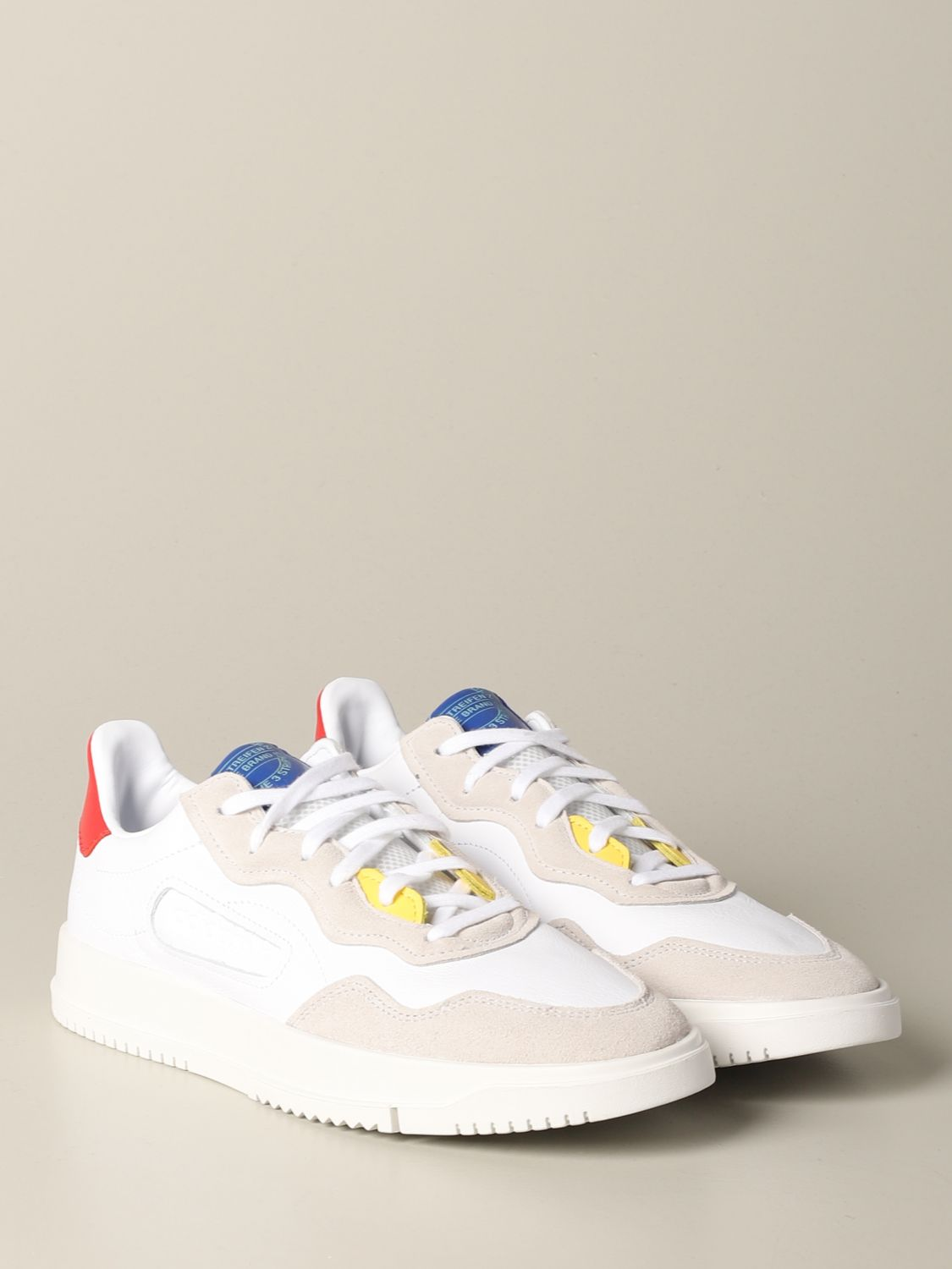 Sneakers Adidas Originals: Sneakers Supercourt premier Adidas Originals in pelle e camoscio bianco 2