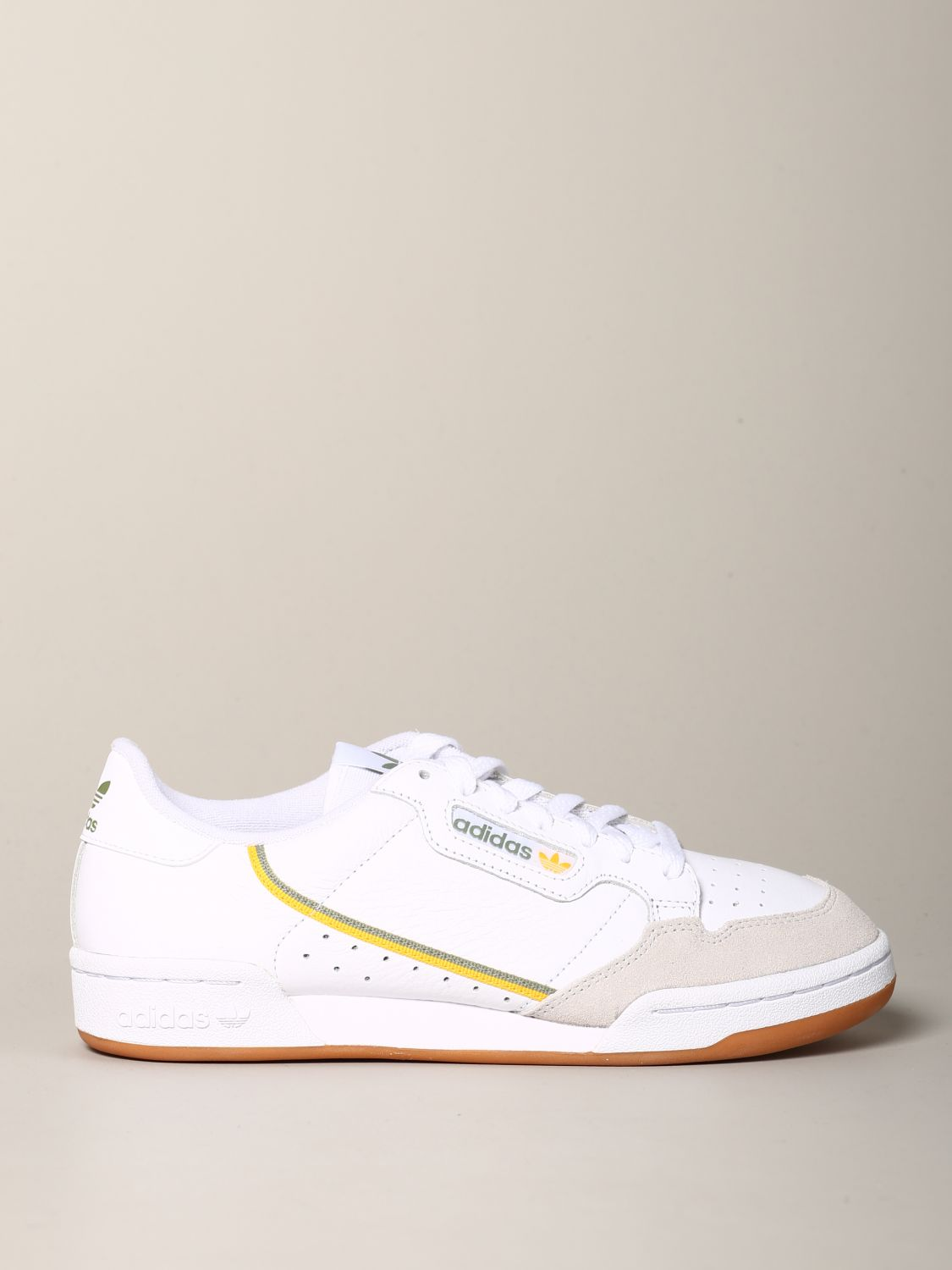 Sneakers Adidas Originals: Adidas Originals Continental 80 sneakers in leather and suede white 1