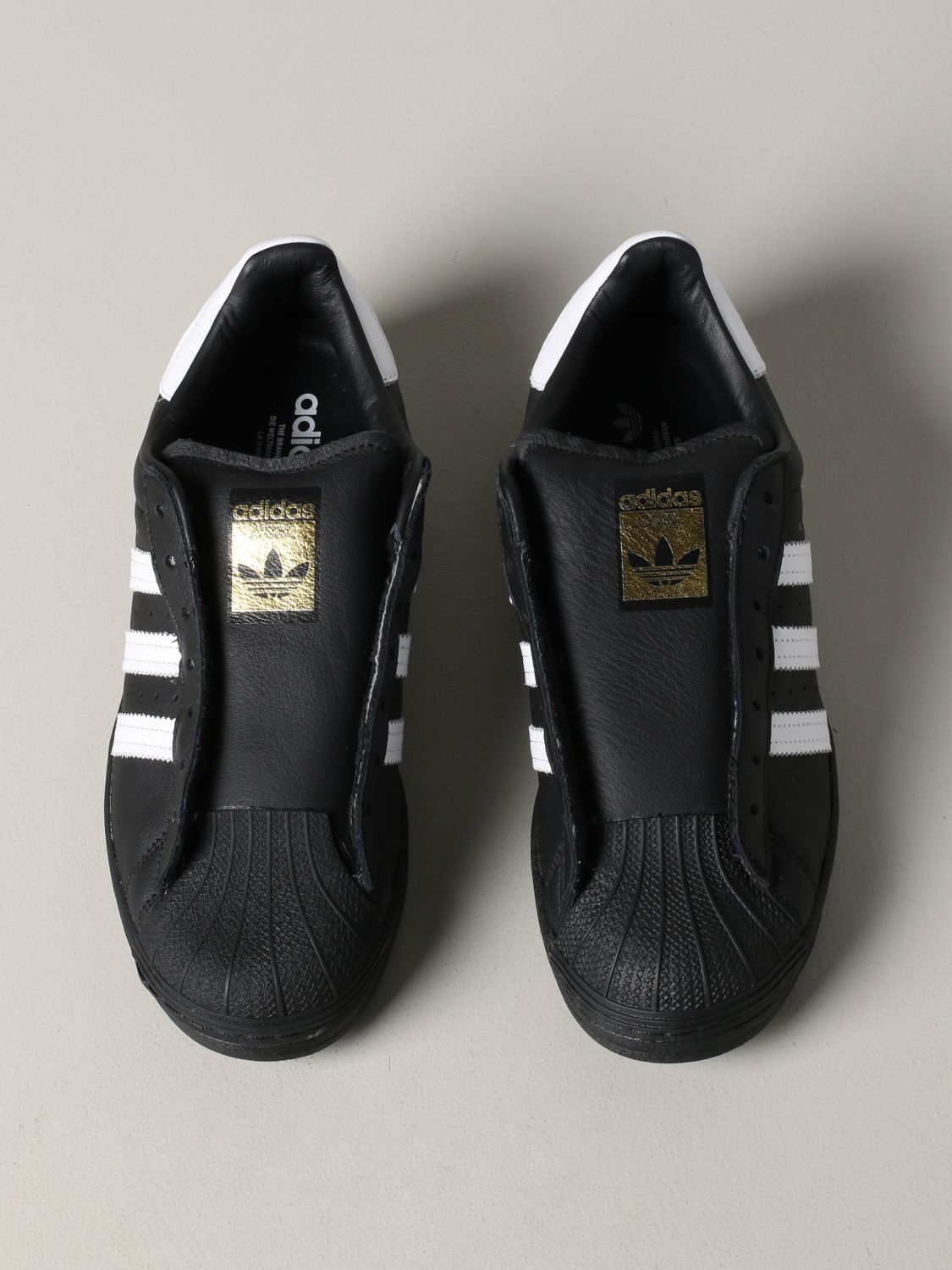 Sneakers Adidas Originals: Adidas Originals Superstar sneakers in leather with logo black 3