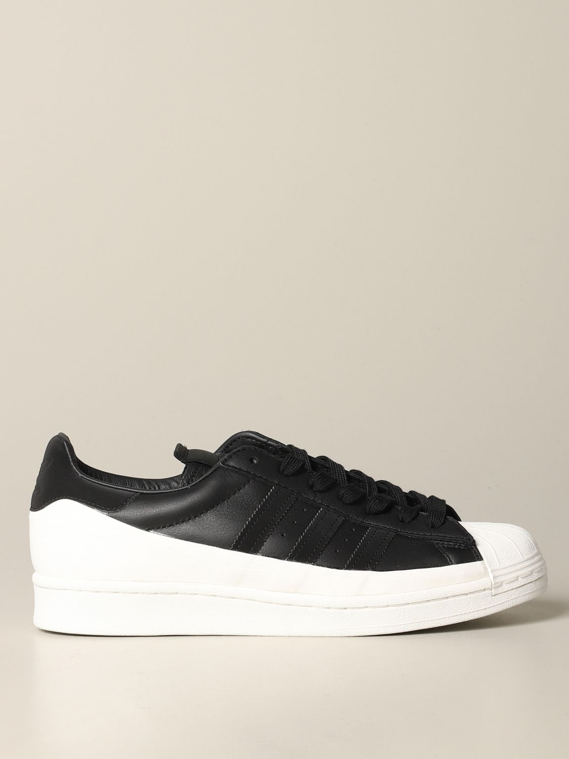 运动鞋 Adidas Originals: Adidas Originals Superstar logo 真皮运动鞋 黑色 1