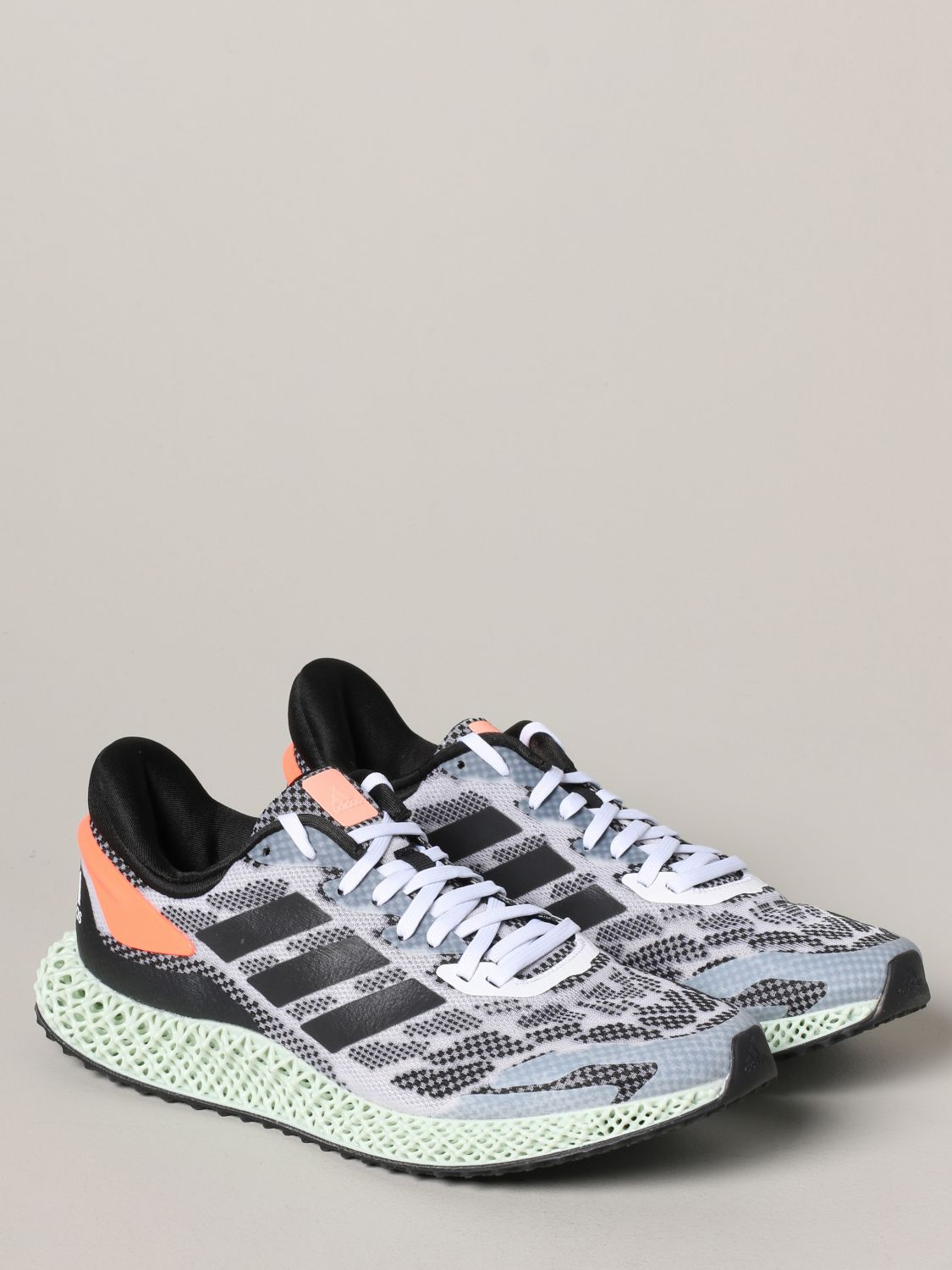 运动鞋 Adidas Originals: Adidas Originals 4d run 1.0 运动鞋 白色 2
