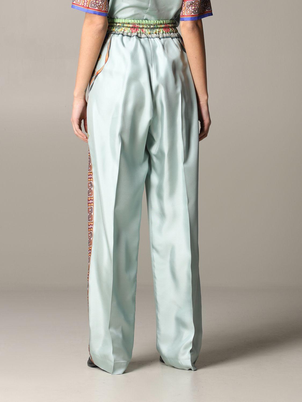 Pantalone Etro ampio in seta con stampa gioiello marocchino acqua 3