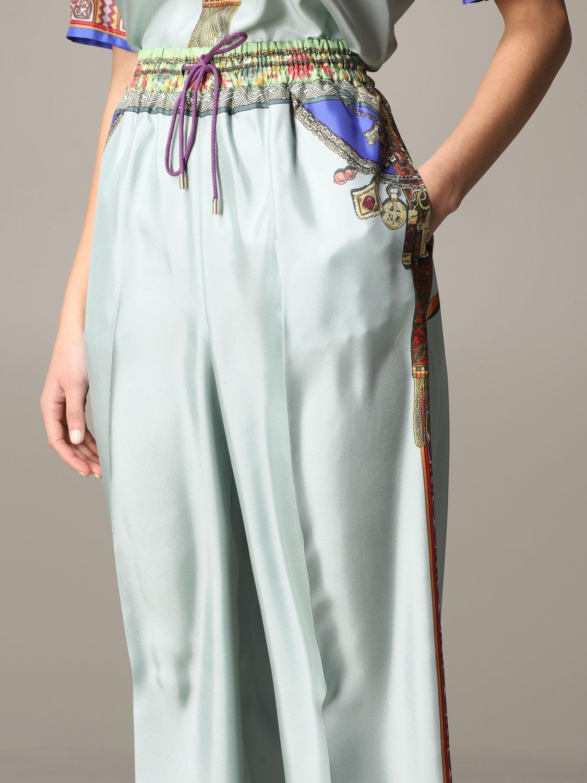 Pantalone Etro ampio in seta con stampa gioiello marocchino acqua 5