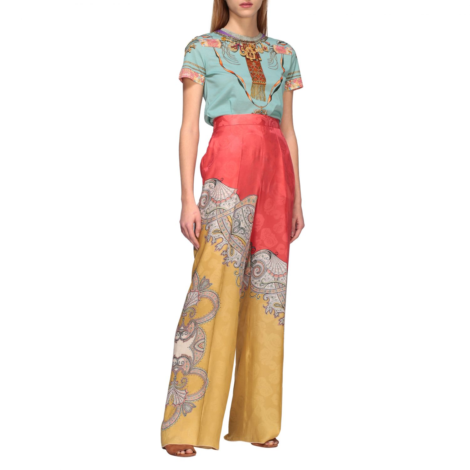 Short-sleeved Etro shirt with Moroccan jewel print water 2