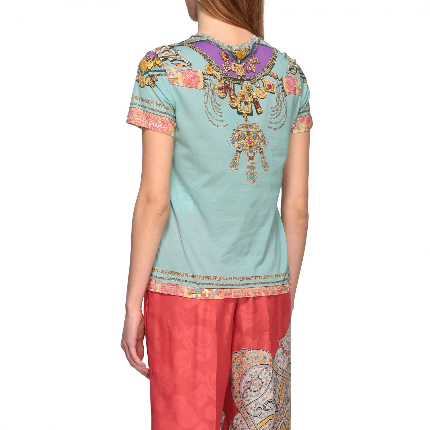 Short-sleeved Etro shirt with Moroccan jewel print water 3
