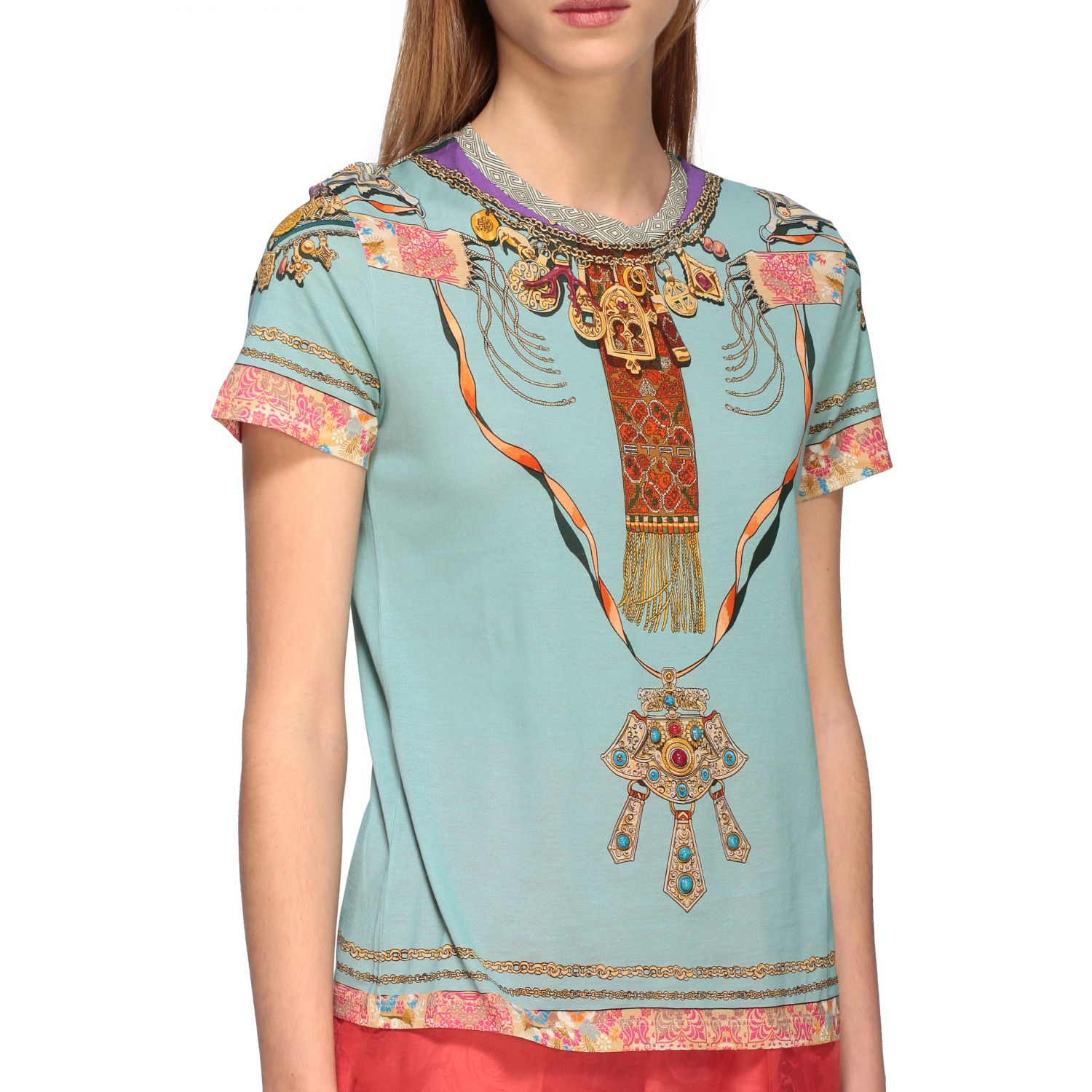 Short-sleeved Etro shirt with Moroccan jewel print water 5