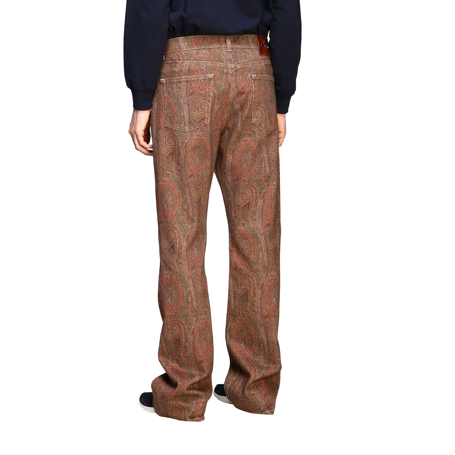 Jeans Etro: Etro flaire denim jeans with arnica print tobacco 3