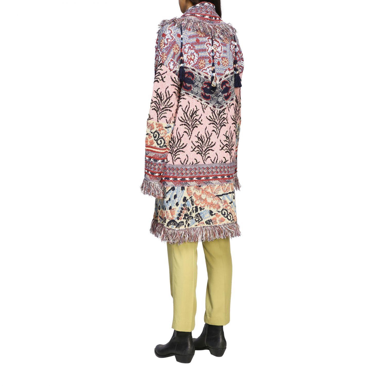 Cardigan lungo Etro in maglia jacquard con frange e nappe fantasia 3