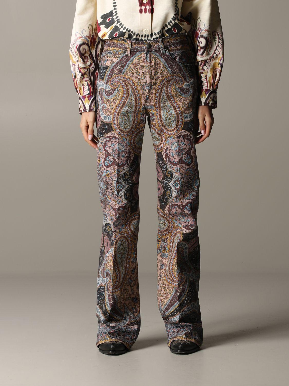 Trousers women Etro brown 1