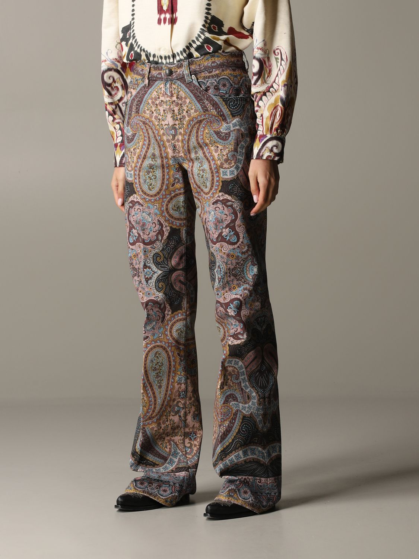 Trousers women Etro brown 4