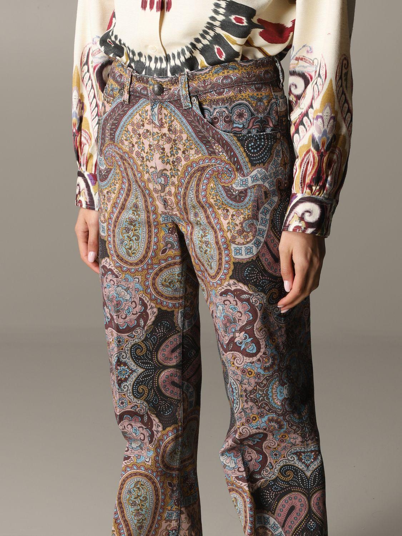 Trousers women Etro brown 5