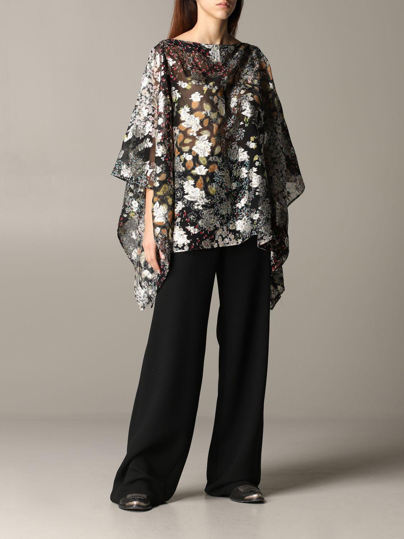 Etro 金银丝花卉印花罩衫上衣 彩色 2
