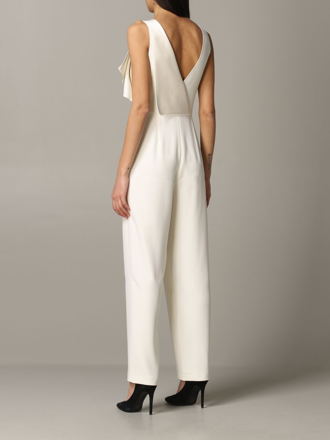 Emporio Armani suit in cady and satin white 2