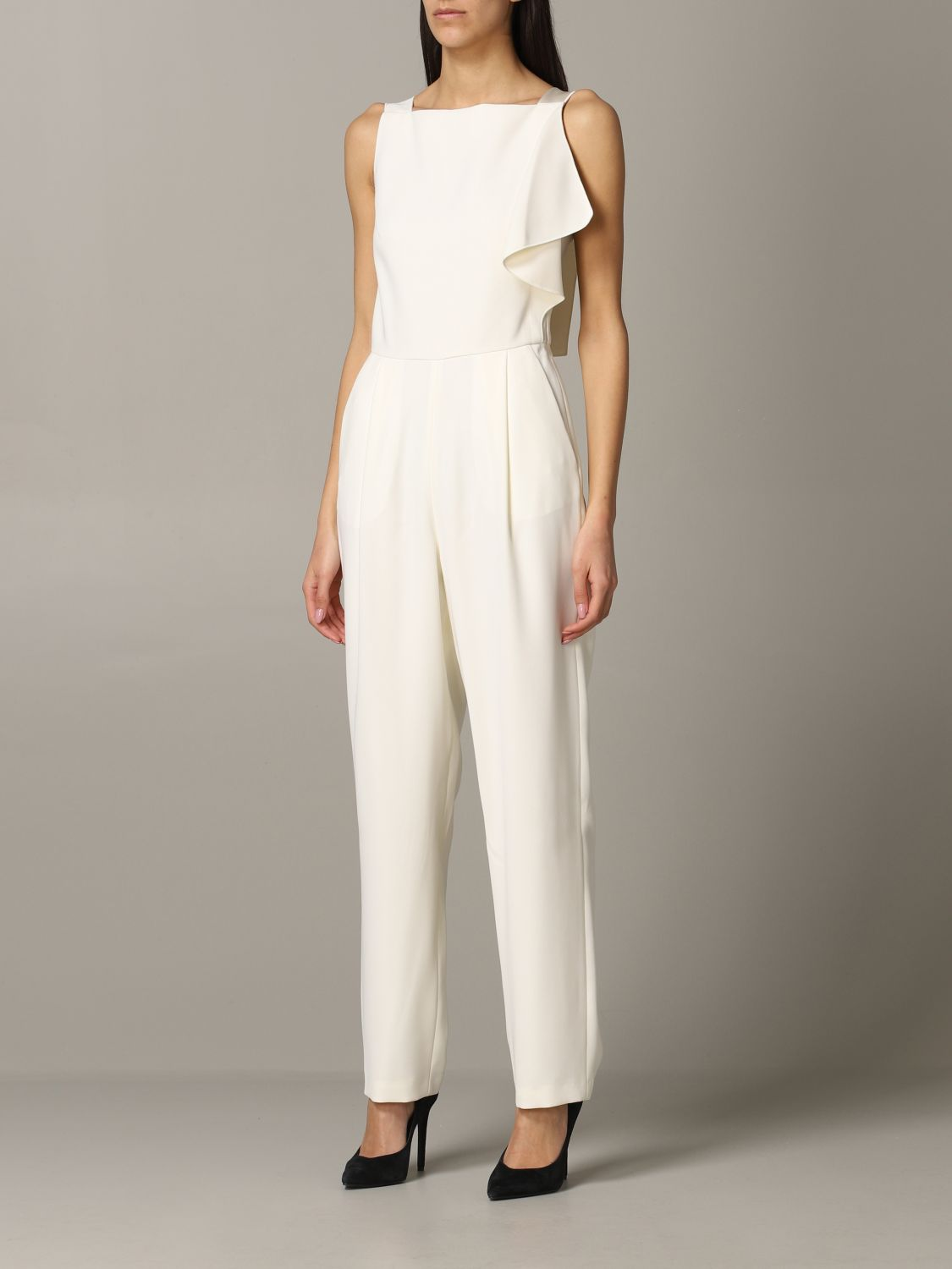 Emporio Armani suit in cady and satin white 3