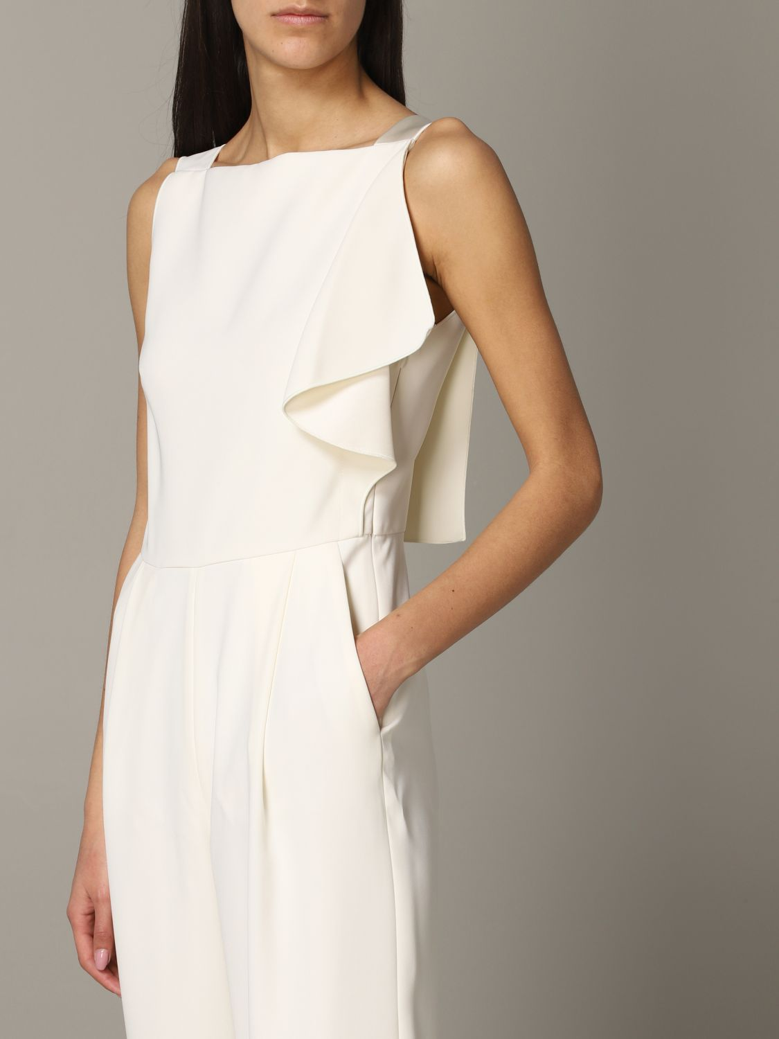 Emporio Armani suit in cady and satin white 4