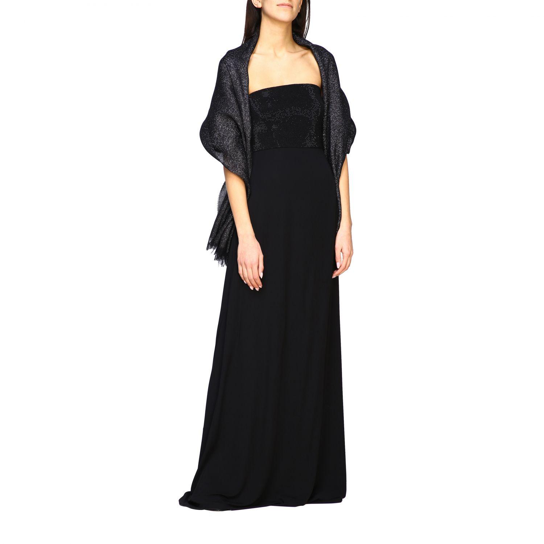 écharpe femme Emporio Armani noir 2