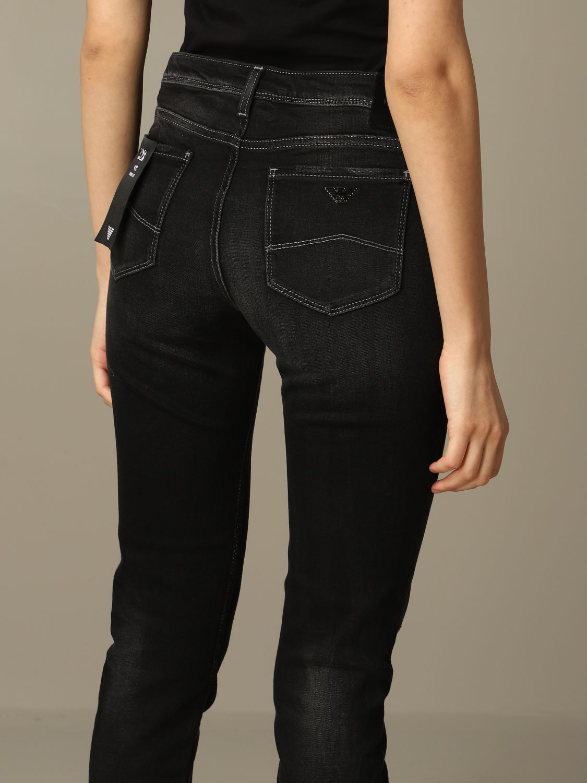 Emporio Armani 弹性牛仔裤 黑色 3