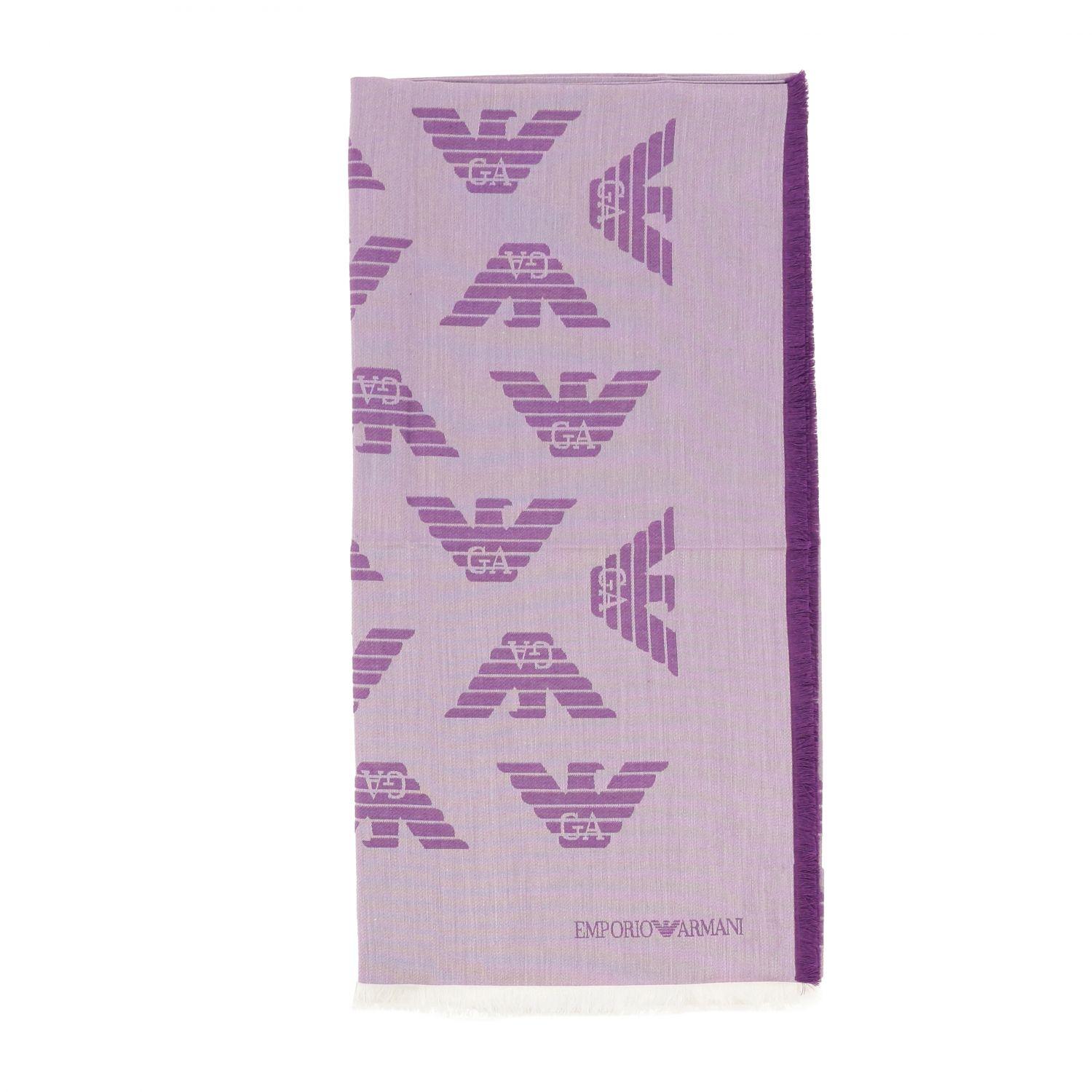 Bufanda mujer Emporio Armani violeta 1
