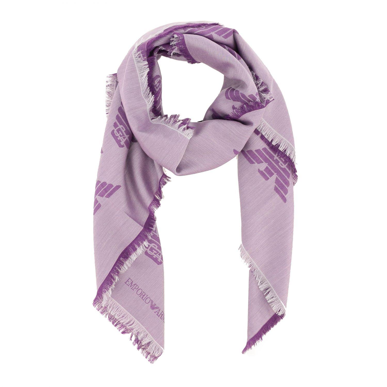 Bufanda mujer Emporio Armani violeta 2
