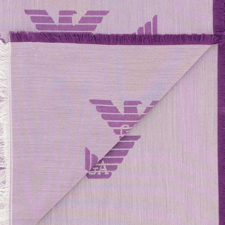 Bufanda mujer Emporio Armani violeta 3