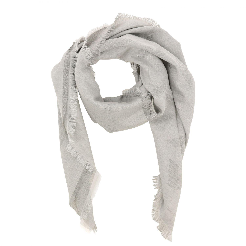 écharpe femme Emporio Armani gris 2