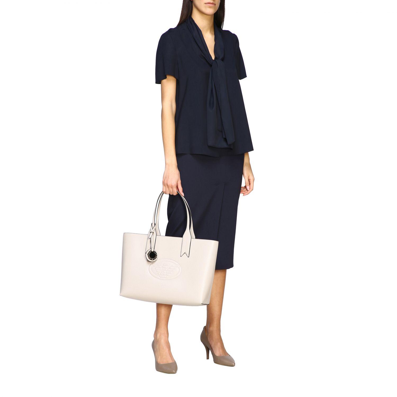 Shoulder bag women Emporio Armani dove grey 2