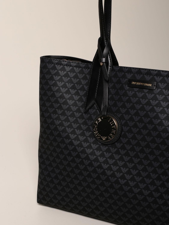 Emporio Armani Shopper aus Kunstleder mit Logo schwarz 3